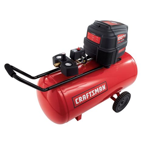 craftsman 16763 33 gal air compressor 1 6 hp horizontal tank 150 max psi sears outlet