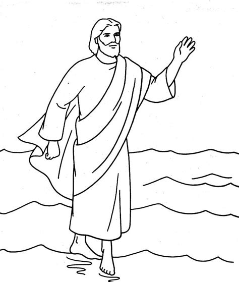 coloring pages jesus walks on water color walking on water