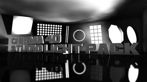 free studio lights pack for cinema 4d c4d download