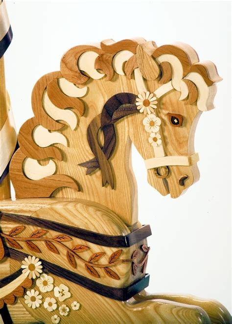 wildflower rocking horse head molds  templates