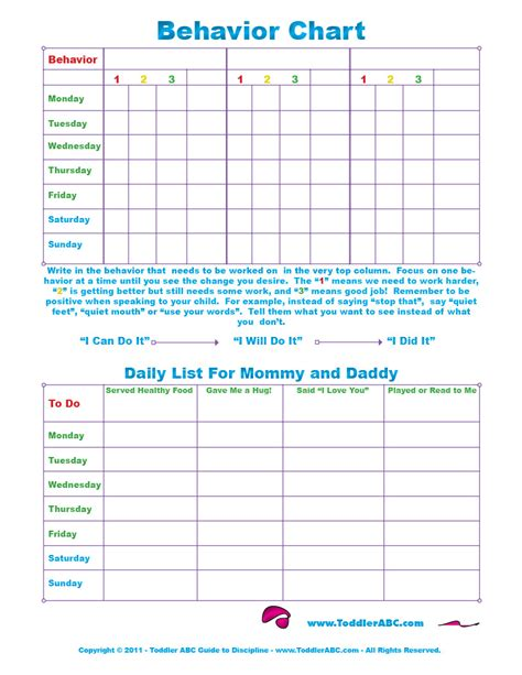 printable charts for toddlers free printable toddler behavior chart for 1 2 3 4 and 5