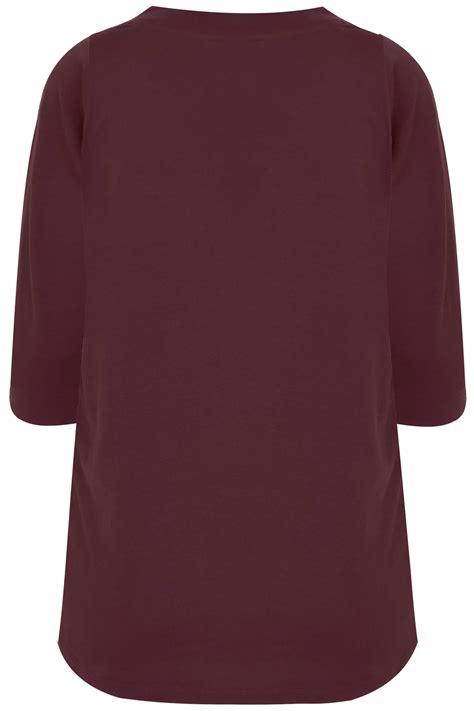 T Shirt S A S Buy Nggifa Name t shirt manches 3 4 couleur bordeaux taille 44 224 64