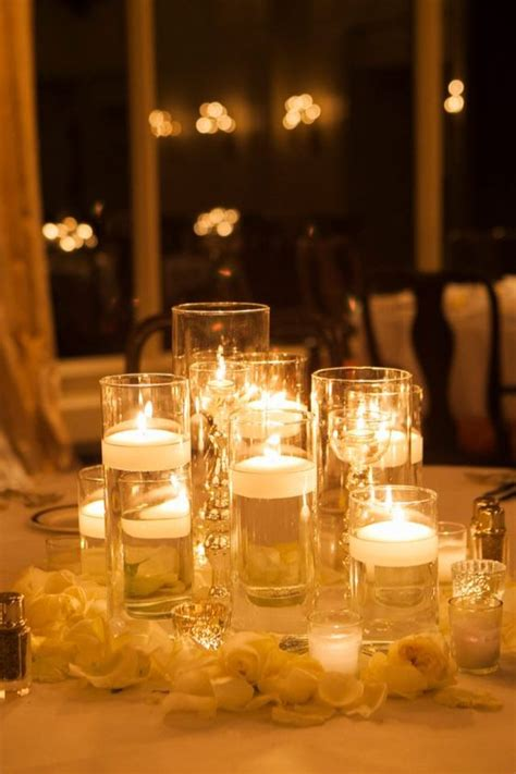 candle centerpieces for home romantic table setting for wedding white lace