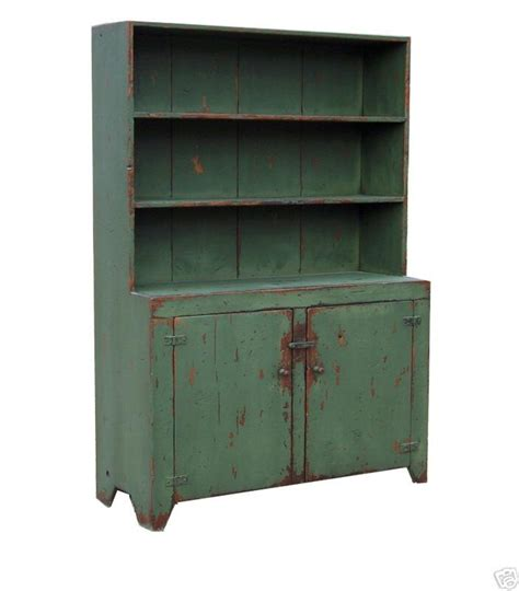 Step Back Hutch primitive farmhouse step back hutch painted country rustic