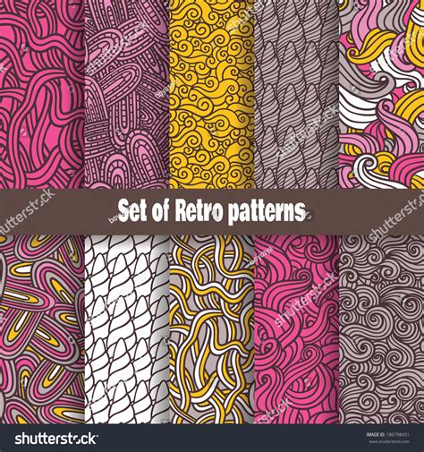 Seamless Pattern Collection | retro pattern collection vector retro seamless set of