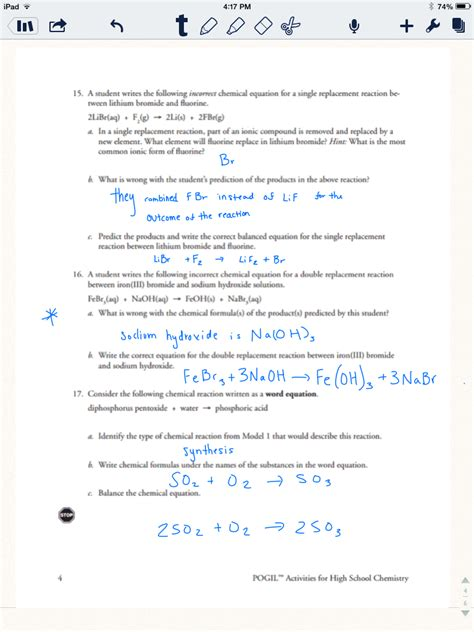 type of reactions worksheet types of chemical reaction worksheet lesupercoin printables worksheets