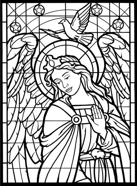 coloring pages of stained glass patterns dover stained glass coloring pages dover publications