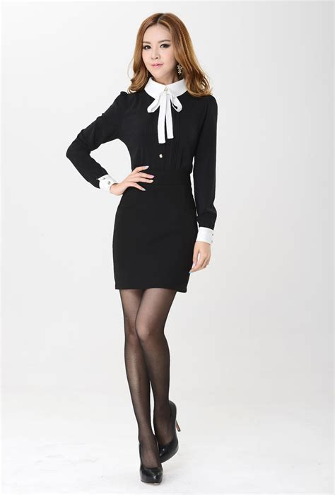 lade in stile fashion office style single breasted buttoned cuffs