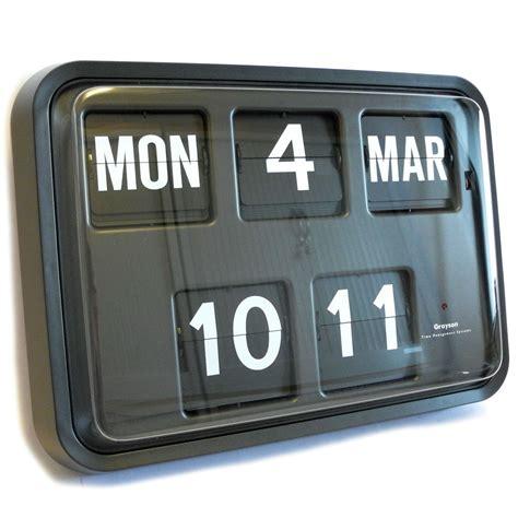 grayson retro flip clock black banking hall clock