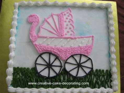 Decorating Ideas For Baby Shower Cake Baby Shower Cakes Simple Baby Shower Cake Decorating Ideas