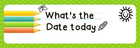 What S On The Calendar For Today What S The Date Today Kindergarten Calendar