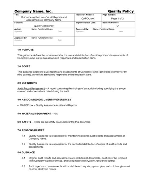 gmp audit report template guidance on audit report confidentiality gmpdocs