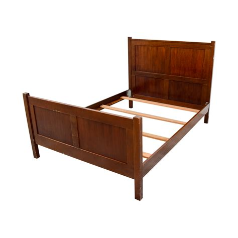 pottery barn bed frame 71 off pottery barn pottery barn wood full bed frame beds
