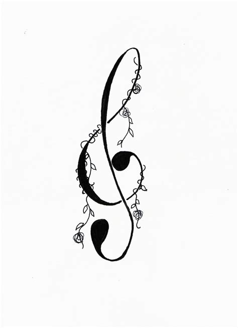 small treble clef tattoos cool treble clef design by bodyartfan for