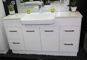 Vanity Basin Tops Brisbane Custom Vanity Unit 1500mm Top Semi Recessed Basin