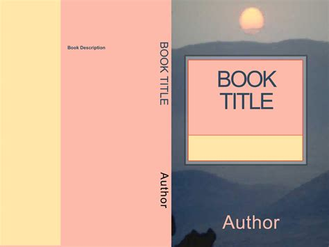 book front cover template book distribution cover choices