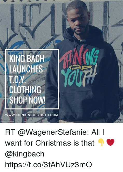 king bach christmas king bach launches to clothing shop now