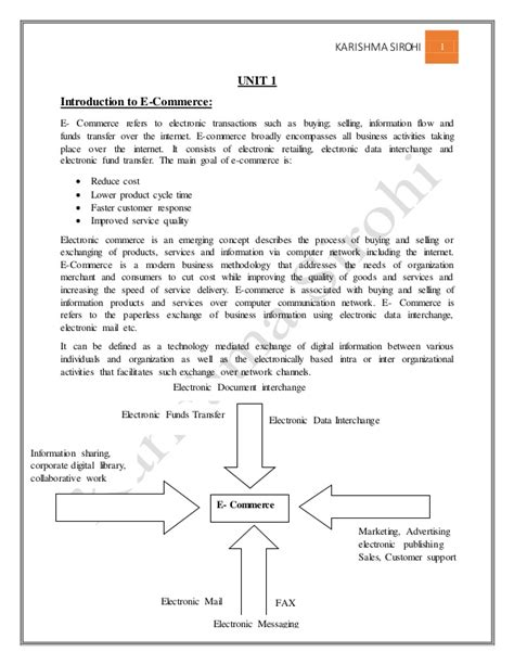 Business Notes For Mba Ppt by E Commerce Notes For Mba
