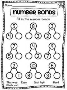search results for number bond worksheets for