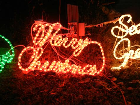 ultimate merry christmas holiday sign rope light