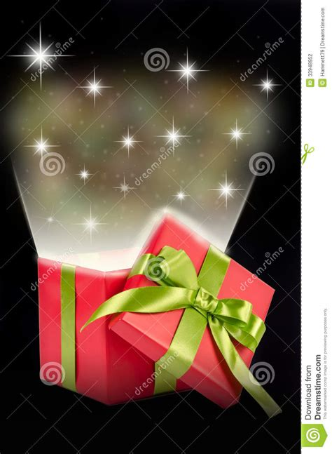 christmas gift surprise stock photography image 33948952