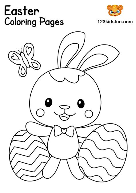 Free Easter Coloring Pages for Kids   123 Kids Fun Apps