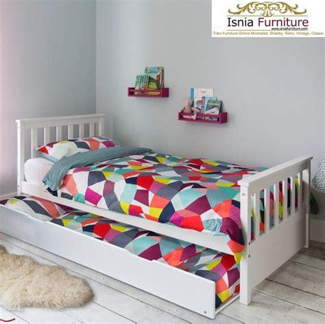 Tempat Tidur Kayu Solid jual tempat tidur sorong modern bahan kayu solid harga