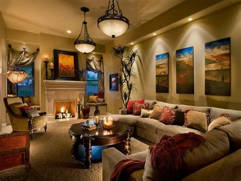 warm tone living room warm tone living room crosses and paintings