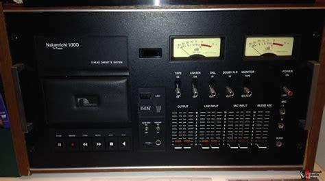 nakamichi 1000 cassette deck nakamichi 1000 deck photo 1126084 canuck audio mart
