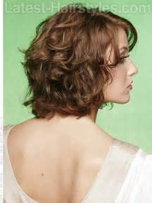shoulder length layered curly haircuts with front and back pictures medium curly layered hairstyles