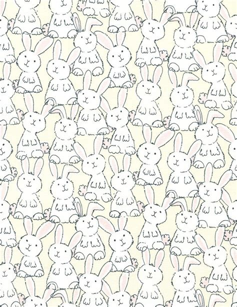 Rabbit Quilt Fabric by Bunny Quilt Fabric In Farmland Gail C3124 Butter