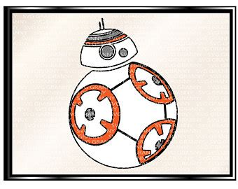 Bb8 Drawing Outline by Bb8 Clip Etsy