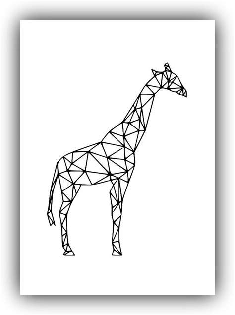 geometric giraffe tattoo geometric giraffe art printable art 106 handmade