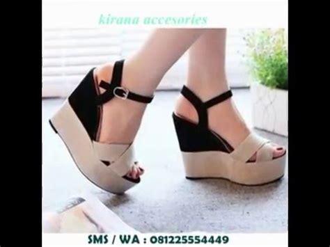 jual sepatu sandal wedges wanita cantik terbaru 081225554449