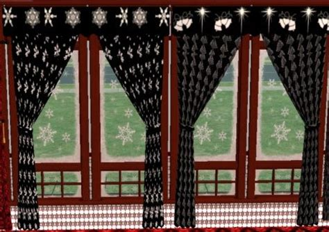 gothic style curtains mod the sims gothic christmas curtains