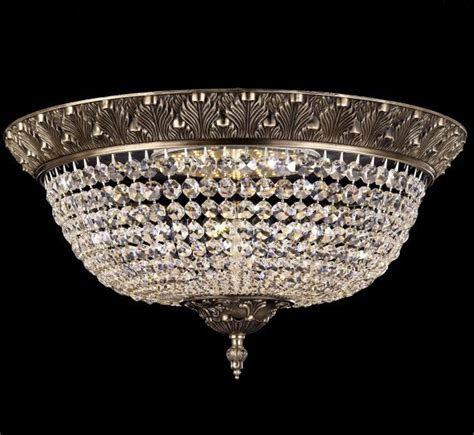 large flush mount ceiling light corinthian collection 22 dia large brass crystal flush