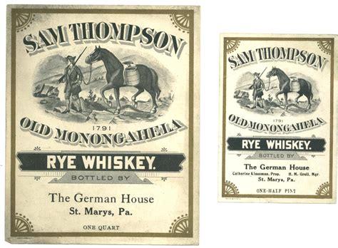 design whisky label vintage sam thompson rye whiskey label design vintage