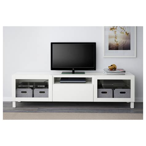 tv media bench best 197 tv bench lappviken sindvik white clear glass