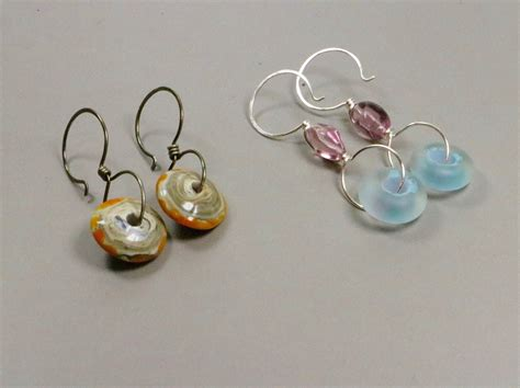 bead earrings disc bead earrings 183 how to make a pair of beaded earrings
