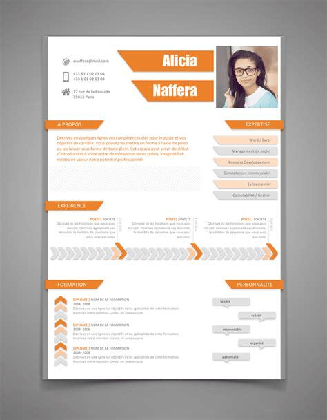 Resume Sample Model by Exemple De Cv Nouveau Style L Cr 233 Er Un Cv