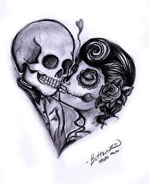 day of the dead couple tattoos day of the dead tattoos search ideas