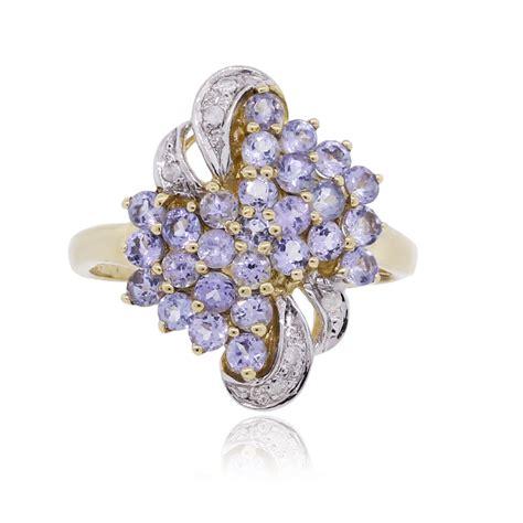 Tanzanite Jewelry by Yellow Gold Purple Tanzanite Ring