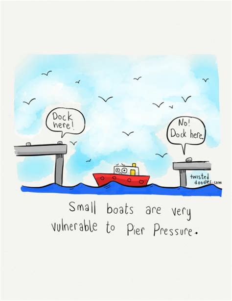 dog and boat puns pier pressure cartoon funny joke pictures