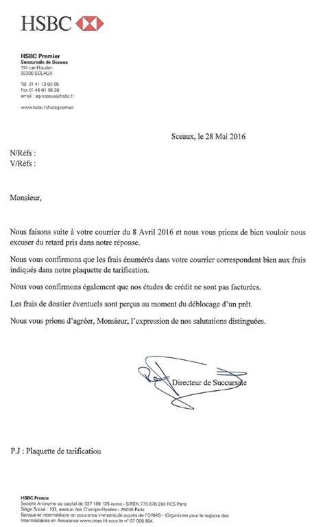 Intervention Letter Credit Hire Aplomb Frais D Intervention Le Hsbc Se Contredit