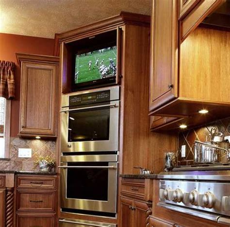 kitchen cabinet tv 7 modern kitchen design trends stylishly incorporating tv sets into kitchen interiors