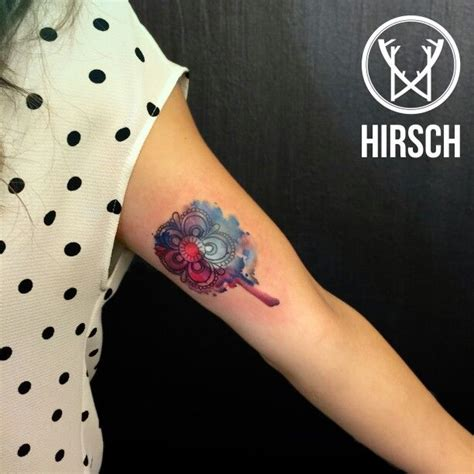 watercolor tattoo trento watercolor mandala hirsch lab trento