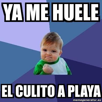 Memes Playa - meme bebe exitoso ya me huele el culito a playa 3079786