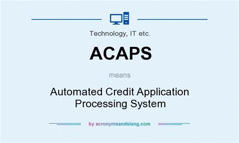 acaps automated credit application processing system in