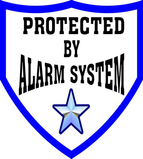 alarm system clipart protected by alarm system sign