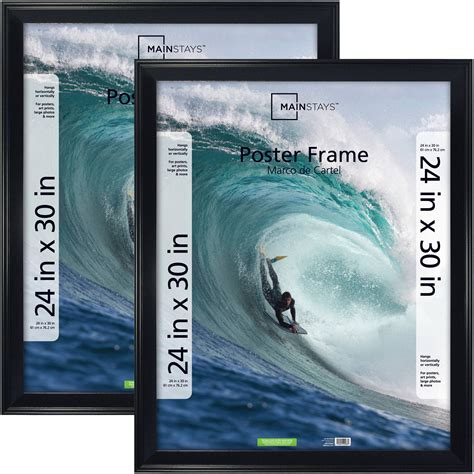 mainstays  casual poster  picture frame black